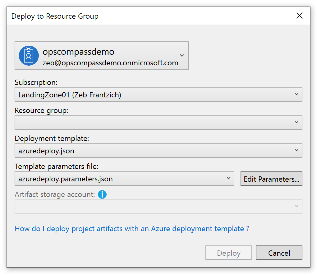 deploy a resource group