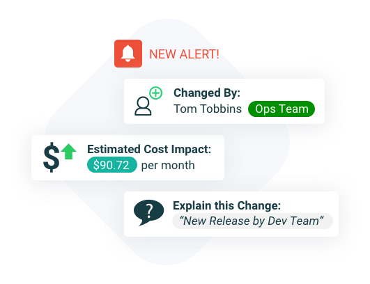 anticipating costs in real time with alerts