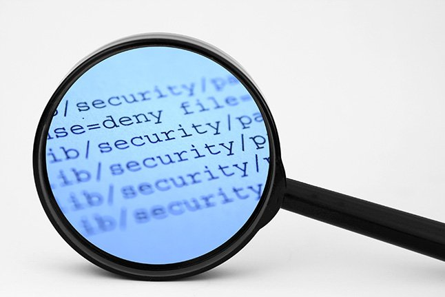 magnifying glass magnifying security