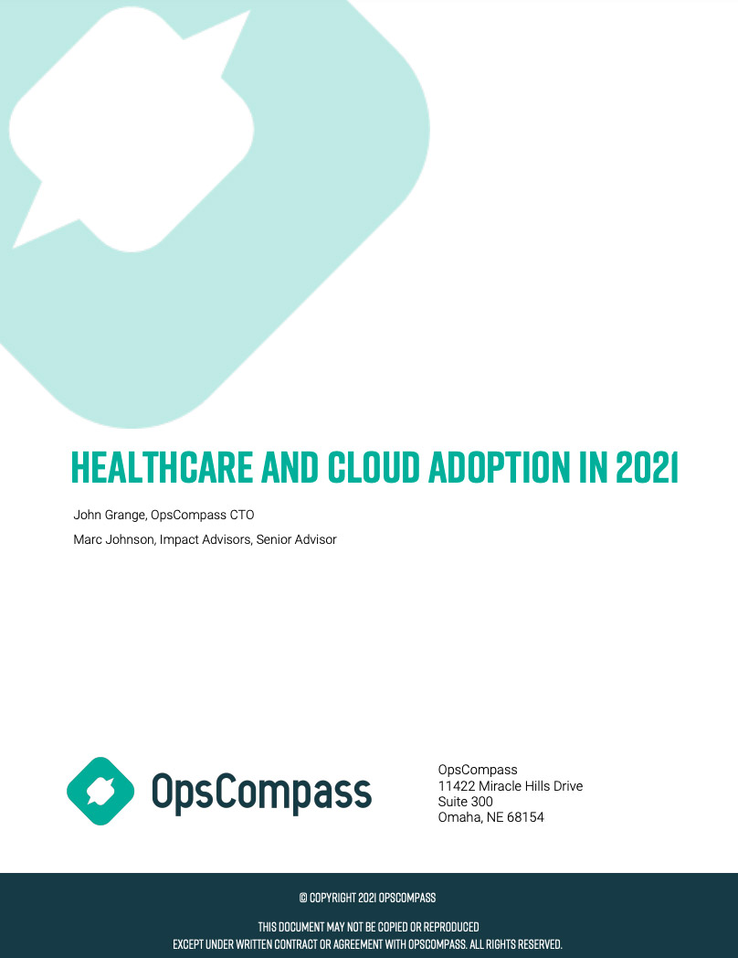 Healthcare Cloud Adoption Whitepaper Cover