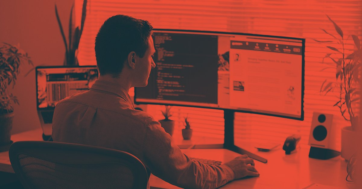 remote worker red tint