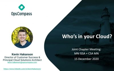 Who's in Your Cloud (Joint Chapter Meeting: MN ISSA + CSA MN)